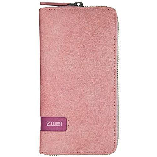 ZWEI Mademoiselle M.Wallet MW2 Geldbörse Damen Portemonnaie 20x11x3 cm (BxHxT), Farbe:Nubuk Rose