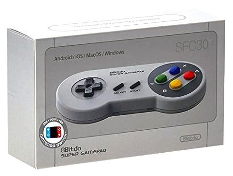 8Bitdo SFC30 Super Famicom Bluetooth Wireless Controller (Mac OS/PC DVD/Nintemdo Wii)