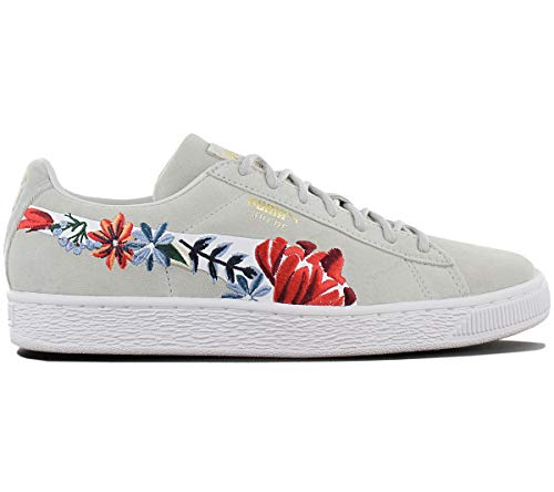 Puma Damen Schuhe/Sneaker Suede Hyper Embelished Grau 38.5 -