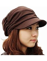 Casquette Femme Pliable Bonnet en Coton Chapeau Automne Hiver Taille Unique -Très Chic Mailanda