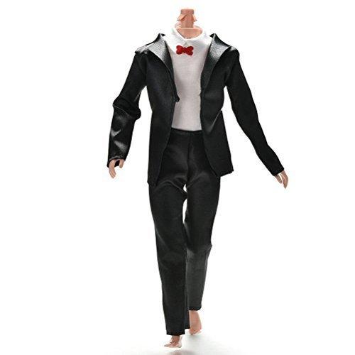 keepingup 1 Set Schwarz Prinz Puppe-anzug Kleidung für Barbie Ken Puppen