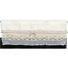 Cortina visillo Bistro cortina rústico Shabby Chic Vintage 23largo Alto también a escala posible, champán, 23 x 90