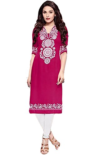 Sai Fab Women's POLYESTER COTTON Pink Kurti ( Free Size Altrable Till OR Free Size)  available at amazon for Rs.129