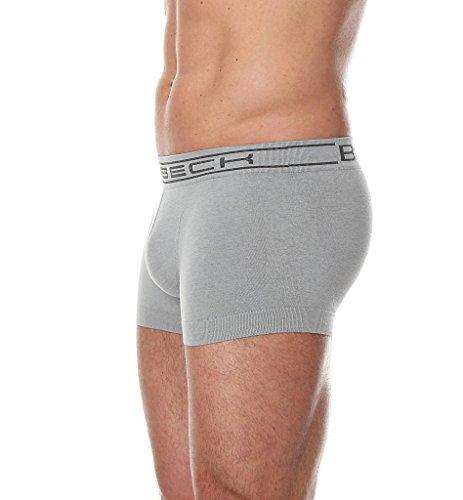 BRUBECK® 3x BX10050 COMFORT COTTON Herren Boxer Shorts / Slips | Funktionswäsche | Nahtlos | Formstabil | Atmungsaktiv | Fusselfrei Grey / A