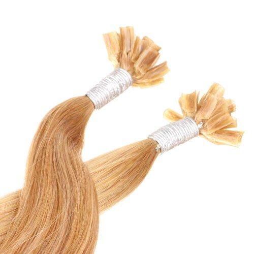 Just Beautiful Hair and Cosmetics Lot de 100 extensions en cheveux naturels Remy avec onglets de kératine en forme de U Brun fauve (10) 30 cm