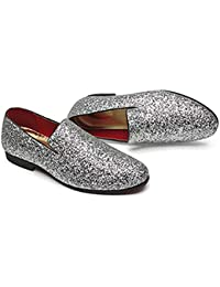 a0027f17c84b Qianliuk Wedding Shoes for Men Casual Flats Tassels Slip-On Dress Loafers