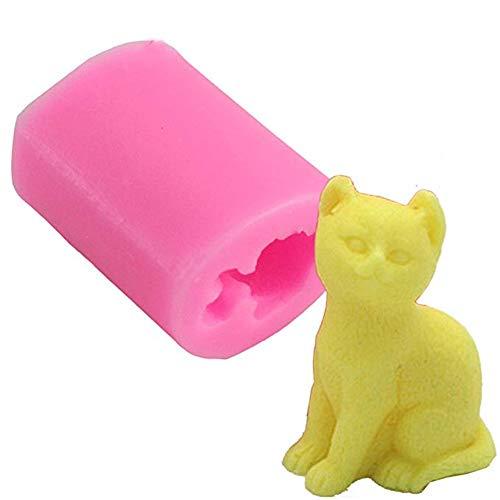 Descripción del producto: Especificaciones: Tipo: molde de silicona 3D para gatos. Estado: nuevo. Material: silicona de grado alimenticio. Color: rosa, como se muestra en la imagen. Tamaño: 4,3 x 3,3 x 4,9 cm. Peso: 47g Características: Los moldes de...
