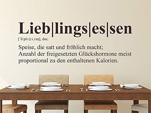 Wandtattoo Küchen Lieblingsessen Definition Von .De Wandaufkleber Küche Esszimmer Wanddeko