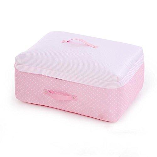 Caja almacenamiento KKY-Enter Light Pink Edredón