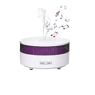Aroma Diffusor COOSA aromatherapie diffuser Ultraschall Cool Mist Luftbefeuchter mit Bluetooth Sprecher Funktion, Bunte Steigung LED Licht und wasserlose automatische Abschaltung für Büro Hause Yoga Spa und Schlafzimmer