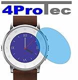 4ProTec 2X Crystal Clear klar Schutzfolie für Pebble Time Ro& Premium Bildschirmschutzfolie Displayschutzfolie Schutzhülle Bildschirmschutz Bildschirmfolie Folie