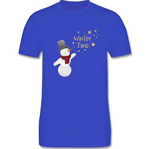 Weihnachten & Silvester - Schneemann Winterzeit - Herren Premium T-Shirt Royalblau