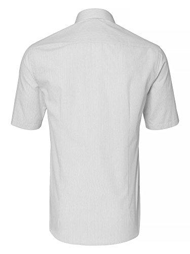 Venti Messieurs Chemise d'affaires 100 % coton slim fit blanc gris