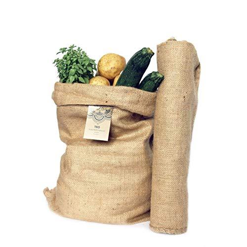 Sacos Grandes Yute 100% Natural - Pack 2 Bolsas Ecológicas