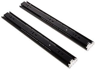 Pro Tec 45mm Telescopic Drawer Channel Slide Standard Type 35 Kg Loading Capacity Black Finish Full Extension 200mm 8 In