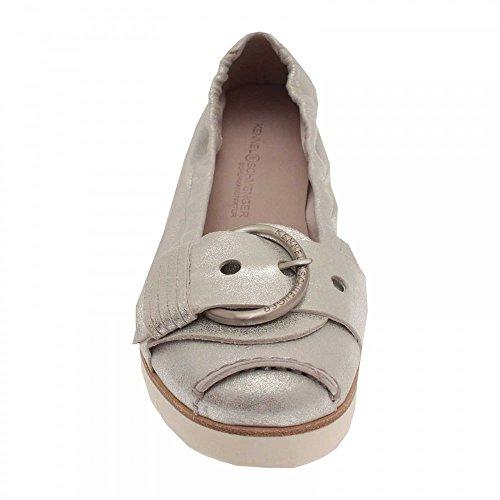 Kennel Und Schmenger Flatform Buckle Ballet Pump White