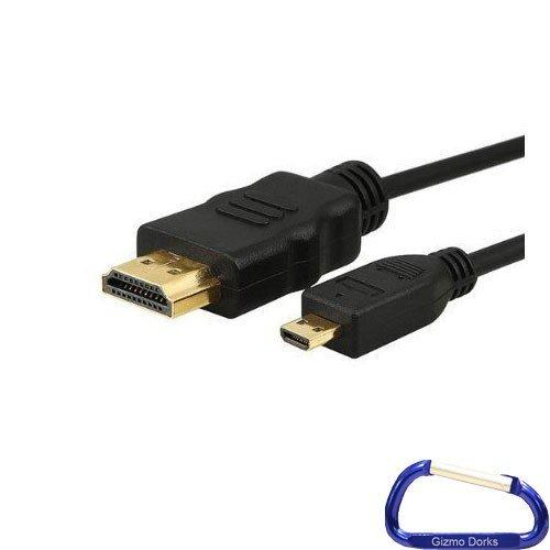 Gizmo Dorks High Speed Mini HDMI-Kabel (6Füße) mit Karabiner Schlüsselanhänger für die Panasonic HM-TA20Wasserdicht Pocket Camcorder