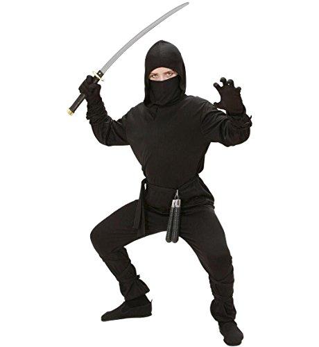 (Widmann 02647 Kinderkostüm Ninja, Mehrfarbig, 140 cm)