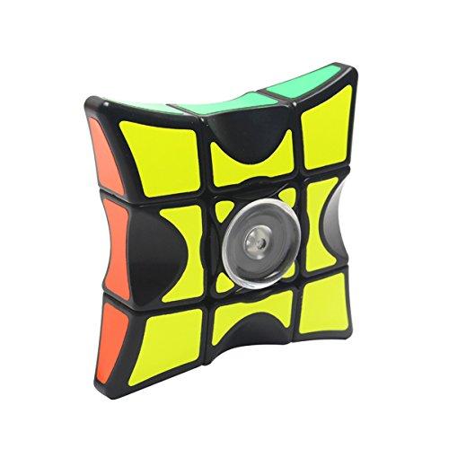 COOJA Speed Cube 1 x 3 x 3, Ultra Suave Magic Cube Puzzle Fidget Juguete, Regalo para Niños y Adultos (Negro)