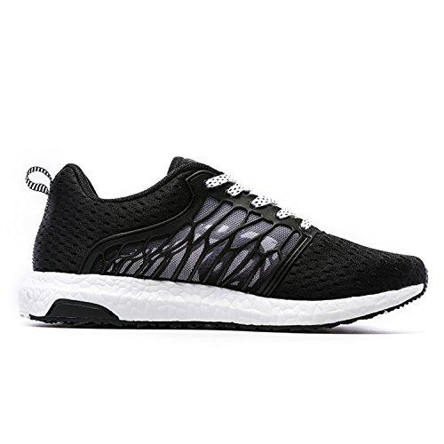 Onemix Maglia Scarpe da Ginnastica Basse Sportive Outdoor Tennis Running Sneakers Donna Uomo Unisex Adulto Nero / Bianco
