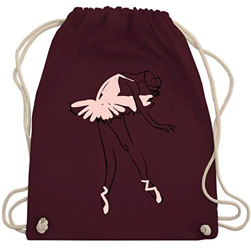 Tanzsport - Balletttänzerin Ballerina - Unisize - Bordeauxrot - WM110 - Turnbeutel & Gym Bag