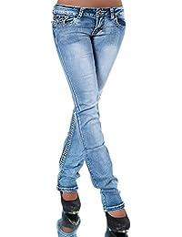 H922 Damen Bootcut Jeans Hose Damenjeans Hüftjeans Gerades Bein Dicke Naht  Nähte c70091f211