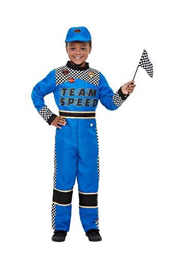 Smiffys 47717L Rennfahrer-Kostüm, Jungen (Car Racing Kostüm Für Jungen)