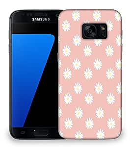 Snoogg Pink Flower Designer Protective Back Case Cover for Samsung Galaxy S7 Edge