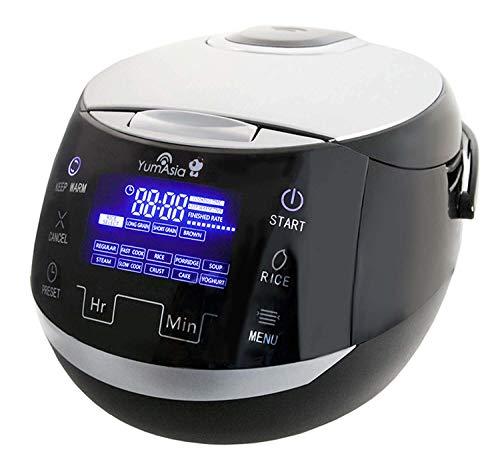 Yum Asia Sakura Cuiseur à riz avec bol en céramique et Micom Fuzzy Logic (YUM-EN15) 6 fonctions de cuisson au riz, 6 fonctions multicuiseurs, écran LED Motouch (1,5 litre) 220-240 V
