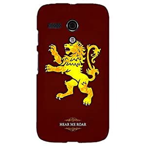 Jugaaduu Game Of Thrones GOT House Lannister Back Cover Case For Moto G (1st Gen)
