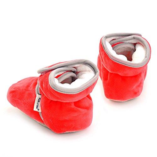 ESTAMICO , Chaussures souples pour bébé (fille) bleu marine 3-6 mois Rouge