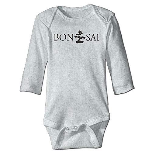 Unisex Newborn Bodysuits Bonsai Silhouette Girls Babysuit Long Sleeve Jumpsuit Sunsuit Outfit Ash