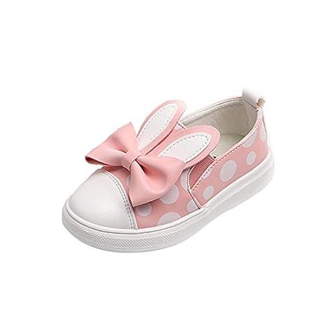 Bébé Fille Slip On Sneaker Basse EU21-25 Chaussures Marche (21,