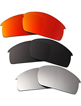 Hkuco Plus Mens Replacement Lenses For Oakley Bottlecap Red/Black/Titanium Sunglasses