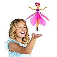 szseven Flying Fairy Doll, Infrared Induction Control RC Helicopter with Lights Kids Toys Child Fly Toy Gift