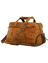 1960492e2e Leather Travel Duffel Bag Overnight Weekend Luggage Carry On Underseat  Airplanes