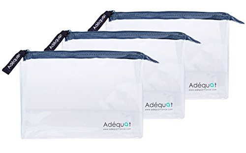 Trousse de toilette / Format Avion / Lot de 3