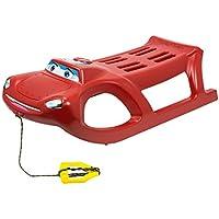 Rot Schlitten aus Kunststoff Happy Car zigi-zet vielleicht Metall Läufer und Seil