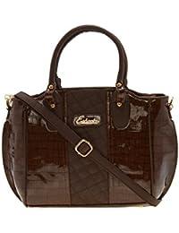 ESBEDA Brown Solid Pu Synthetic Material Handbag For Women