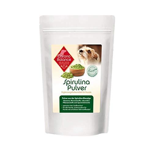 ChronoBalance® Spirulinapulver für Hunde, hoher Anteil an Vitaminen, Mineralstoffe, Spurenelemente, Förderung der Darmflora, Barf Zusatz +++NEU+++