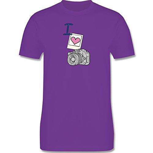 I love - I love photography - Herren Premium T-Shirt Lila