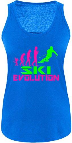 EZYshirt® Ski Evolution Damen Tanktop Royal/Pink/Neongr