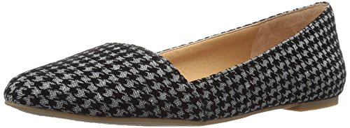 Lucky Brand Archh Cuir Chaussure Plate Black-Gray