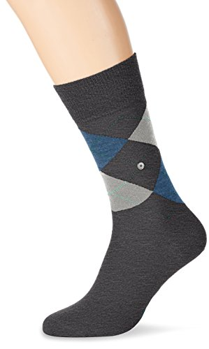 Burlington Herren Socken Edinburgh, Grau (Anthra.Mel 3090), 40/46