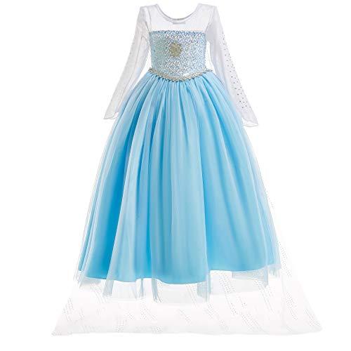 UK1stChoice-Zone Mädchen Prinzessin Kleid Verrücktes Kleid Partei Kostüm Outfit DE*FBA-DRESS (6-7 years, (Snow Queen Kleid Kostüm)