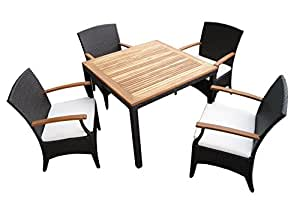 rattan gartenm bel garten tisch set f r 2 oder 4 personen mit 2 oder 4 st hlen aus. Black Bedroom Furniture Sets. Home Design Ideas
