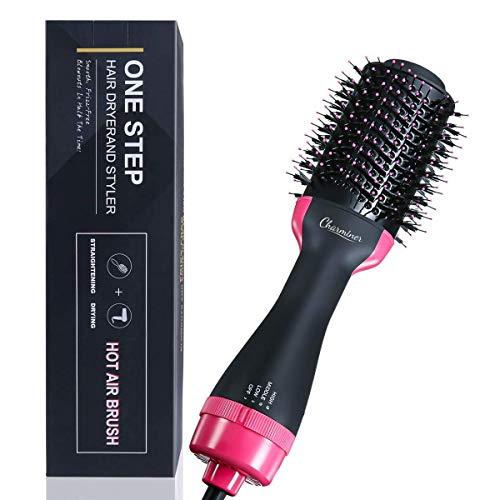 Charminer One Step Secador de pelo y Peinar a Liso en pelo lacio y pelo rizado, 2 en1 Hair Dryer de pelo seco suavizar cabello, Cepillo de Aire Caliente, Peines mujeres, Voluminizador Ion negativo