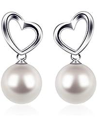 df90ac155c67 Pendientes Mujer Perla Plata de Ley 925