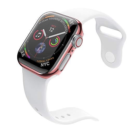 Vamoro Ultradünne PC-Beschichtung Fälle Schutzhülle für Apple Watch 4 44mm(Roségold)