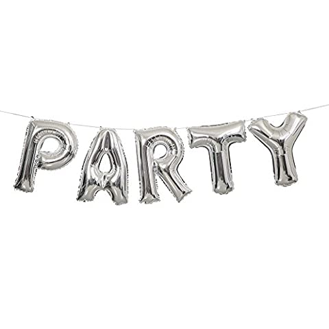 Ballon-Girlande PARTY Silber